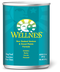 wellness complete health dog canned venison
