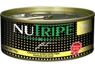 Nutripe Fit Cat Cans - Chicken & Green Lamb Tripe Formula - 24cans