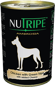 Nutripe Ambrosia Chicken with Green Tripe Canned Dog Food