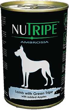 Nutripe Ambrosia Lamb with Green Tripe Canned Dog Food