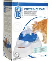 Catit Fresh & Clear Drinking Fountain with Food Bowl
