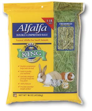 Alfalfa King - Alfafa Hay (Double-Compressed Bag) - 16oz