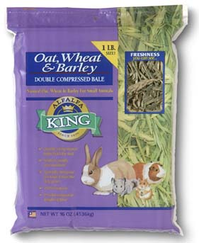 Alfalfa King - Oat, Wheat & Barley Hay (Double-Compressed Bag) - 16oz