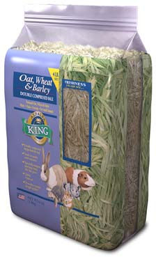Alfalfa King - Oat, Wheat & Barley Hay (Double-Compressed Bag) - 4lbs