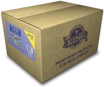 Alfalfa King - Oat, Wheat & Barley Hay (Double-Compressed Box) - 50lbs