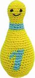 Ju-Be Bowling Pin Yellow Dog Toy