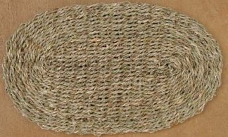 Busy Bunny - Double Weave Oval Sea Grass Mat