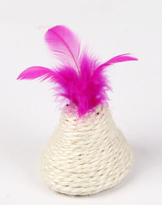Boazz Cat Toy - Sisal Ball with Feather