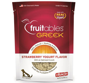 Fruitables Greek Dog Treats Strawberry Yogurt