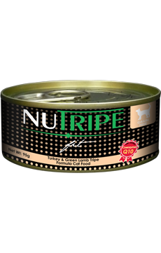 Nutripe Fit Cat Cans - Turkey & Green Lamb Tripe Formula