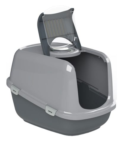 PEEWEE Litter Tray System - Eco Dome (Anthracite Grey/Grey)