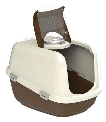 PEEWEE Litter Tray System - Eco Dome (Brown/Cream)