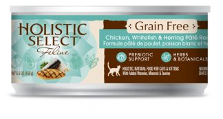 Holistic Select Grain Free Cat Canned - Chicken, Whitefish & Herring Pate