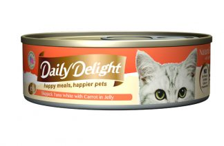 Daily Delight Cat Cans - Skipjack Tuna White with Carrot in Jelly