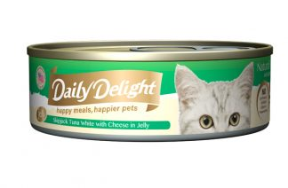 Daily Delight Cat Cans - Skipjack Tuna White with Cheese in Jelly
