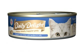 Daily Delight Cat Cans - Skipjack Tuna White with Sardine in Jelly