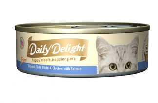 Daily Delight Cat Cans - Skipjack Tuna White & Chicken with Salmon