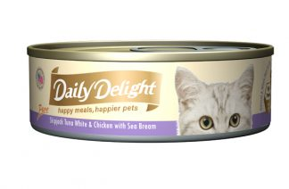 Daily Delight Cat Cans - Skipjack Tuna White & Chicken with Sea Bream