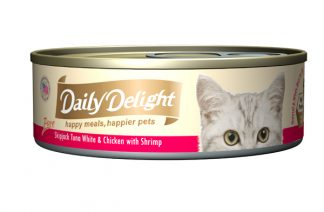 Daily Delight Cat Cans - Skipjack Tuna White & Chicken with Shrimp