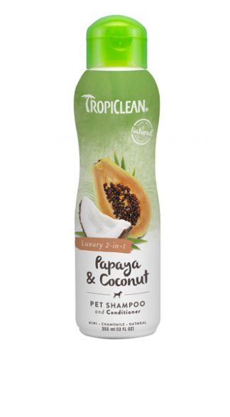 Tropiclean Papaya and Coconut Shampoo 2in1
