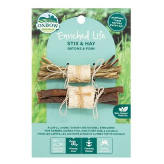 oxbow enriched life stix hay