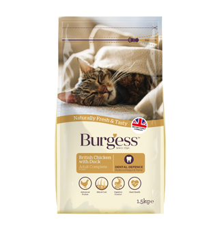 Burgess British Chicken with Duck for Adult Cat