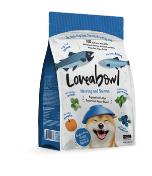 LOVEABOWL DOG Herring and Salmon