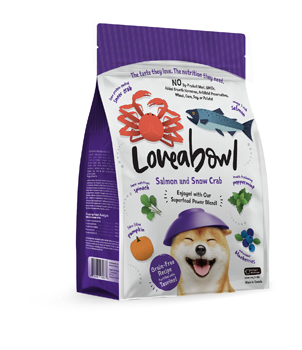 LOVEABOWL DOG Salmon and Snow Crab