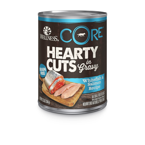 wellness core hearty cuts with gravy Whitefish Salmon